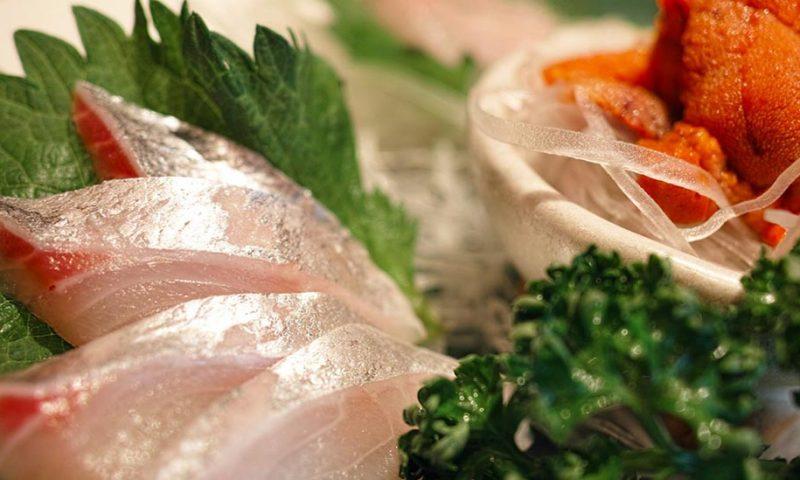 Healthy Japanese Food Salad Sashimi