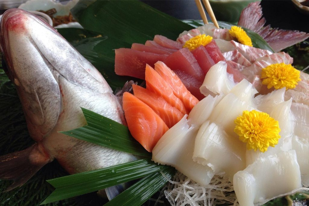 Healthy Japanese Food Sashimi Raw Fish