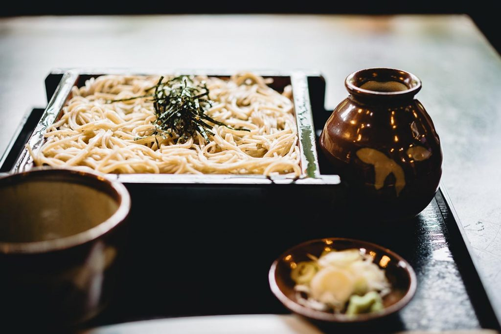 Healthy Japanese Food Soba Noodles