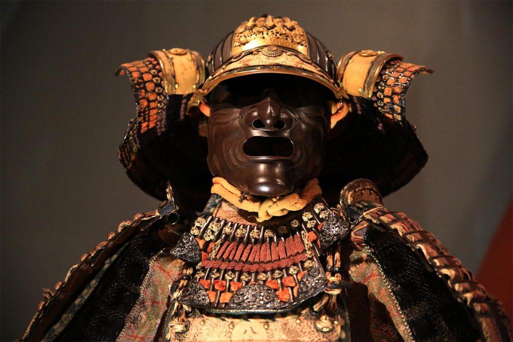 Samurai armor metal mask