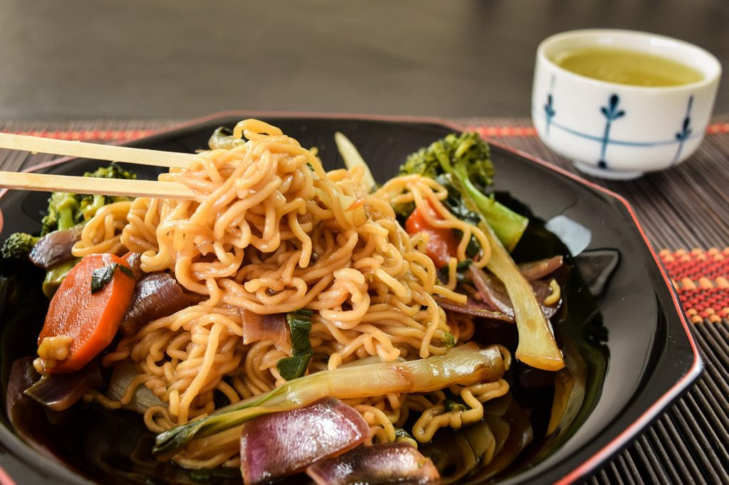 Traditional Japanese Food Yakisoba