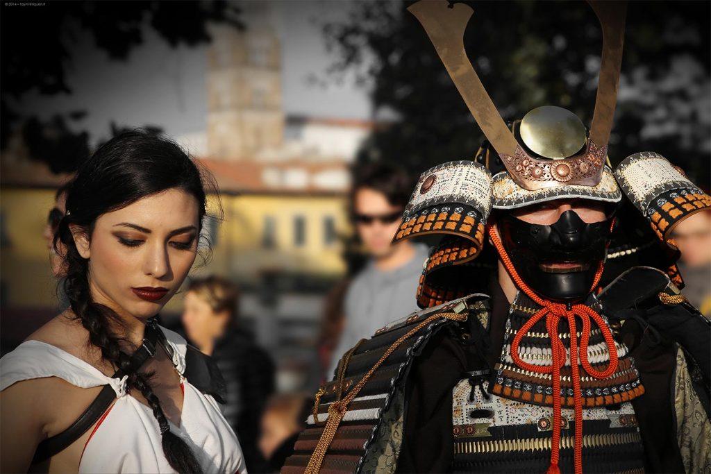 Disfraz de esposa samurái pareja