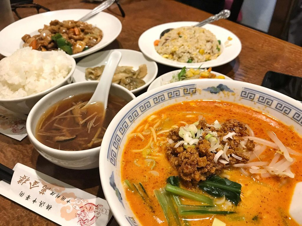Yokohama Chinatown Food Full Dinner Set noodles