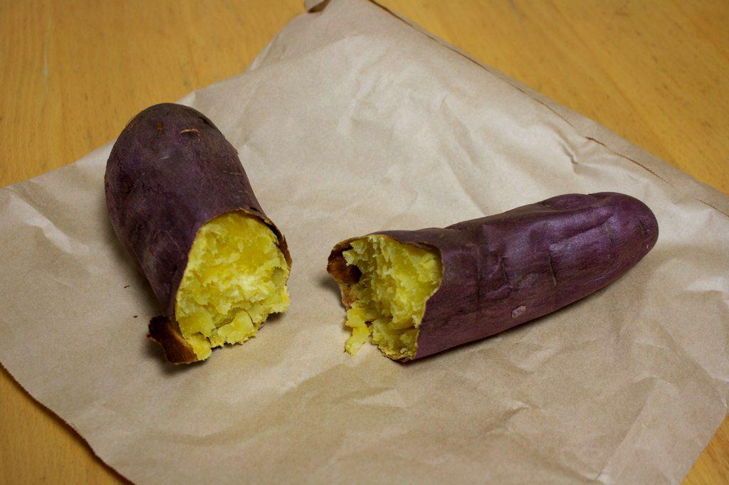 Traditional Japanese Food Yakiimo Sweet Potato