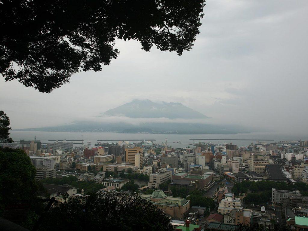 Kagoshima Japan Shiroyama Park View