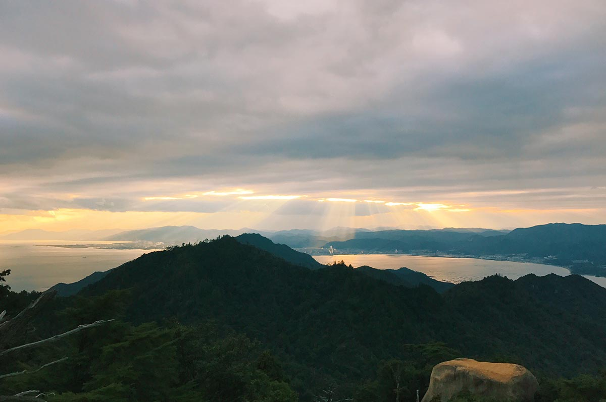 Miyajima Island Mt Misen Sunset