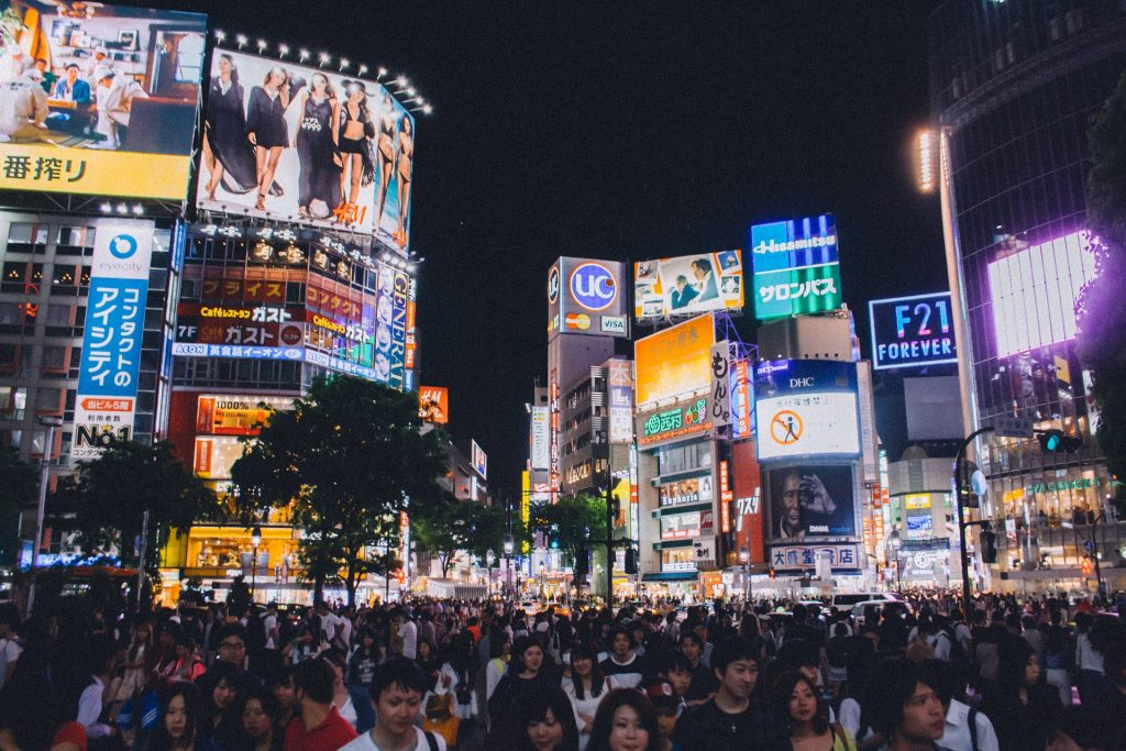 best time to travel to japan Shibuya