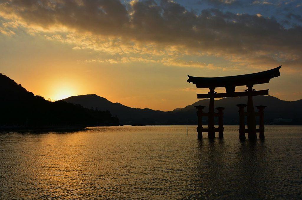 Miyajima Island Tori Sunset