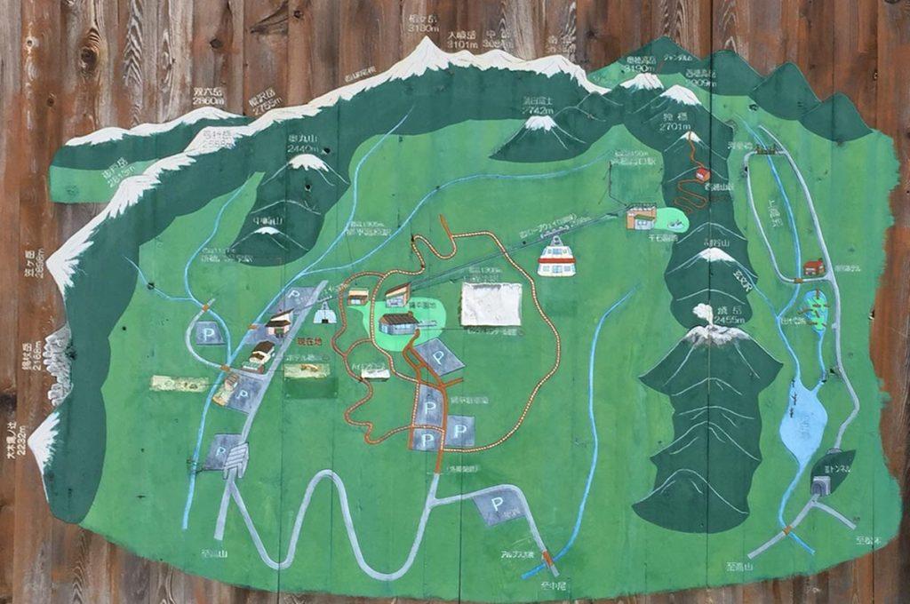 Kamikochi Ropeway Map
