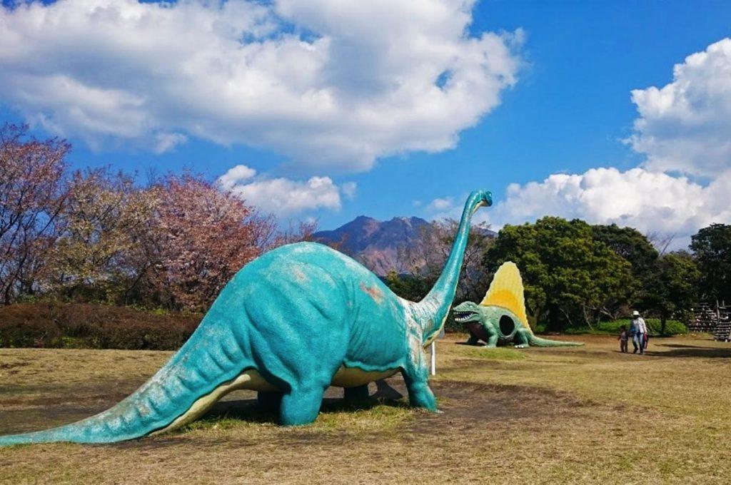 Cherry Blossom Festival Japan Sakurajima Dinosaur Park