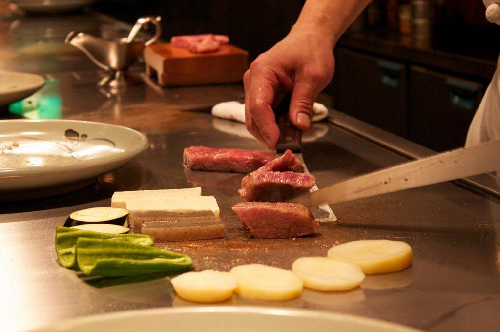 Kobe Beef Cooking