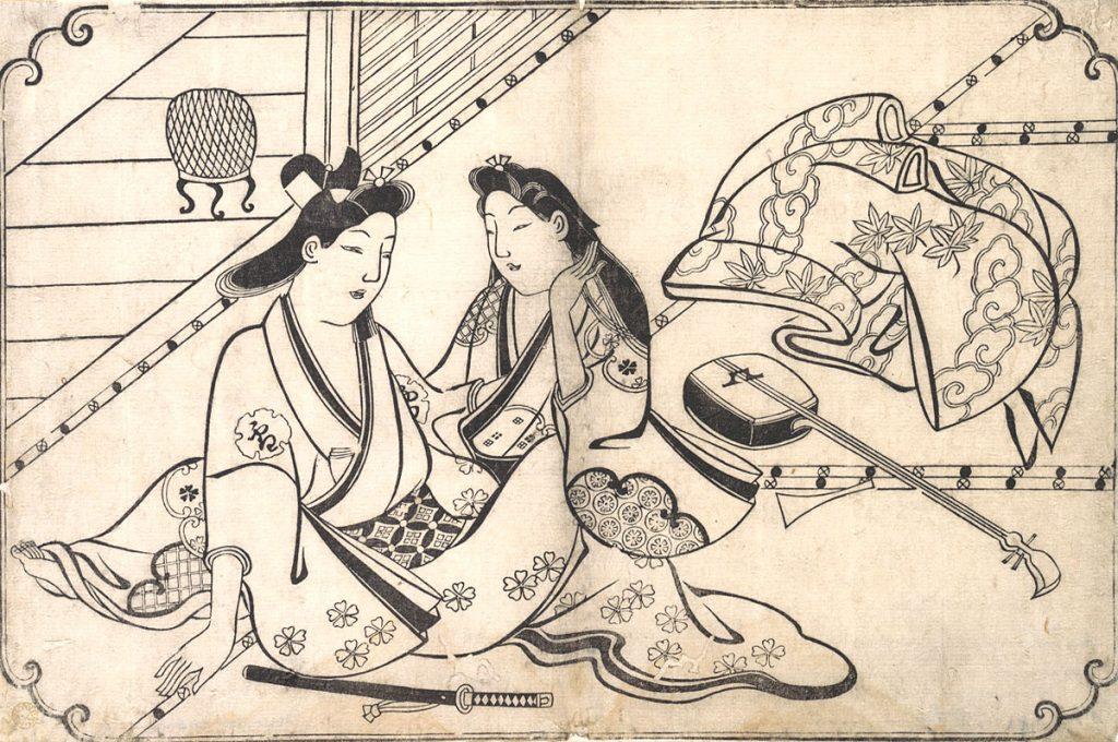 Ukiyo-e Two Lovers Hishikawa Moronobu