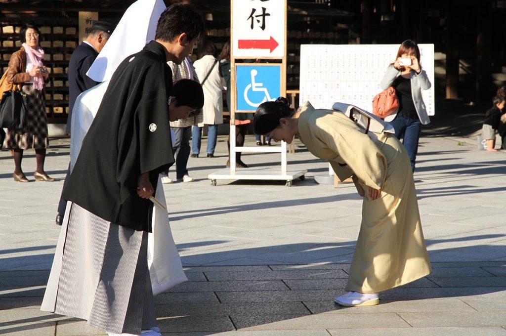 Bow in Japan Kimono