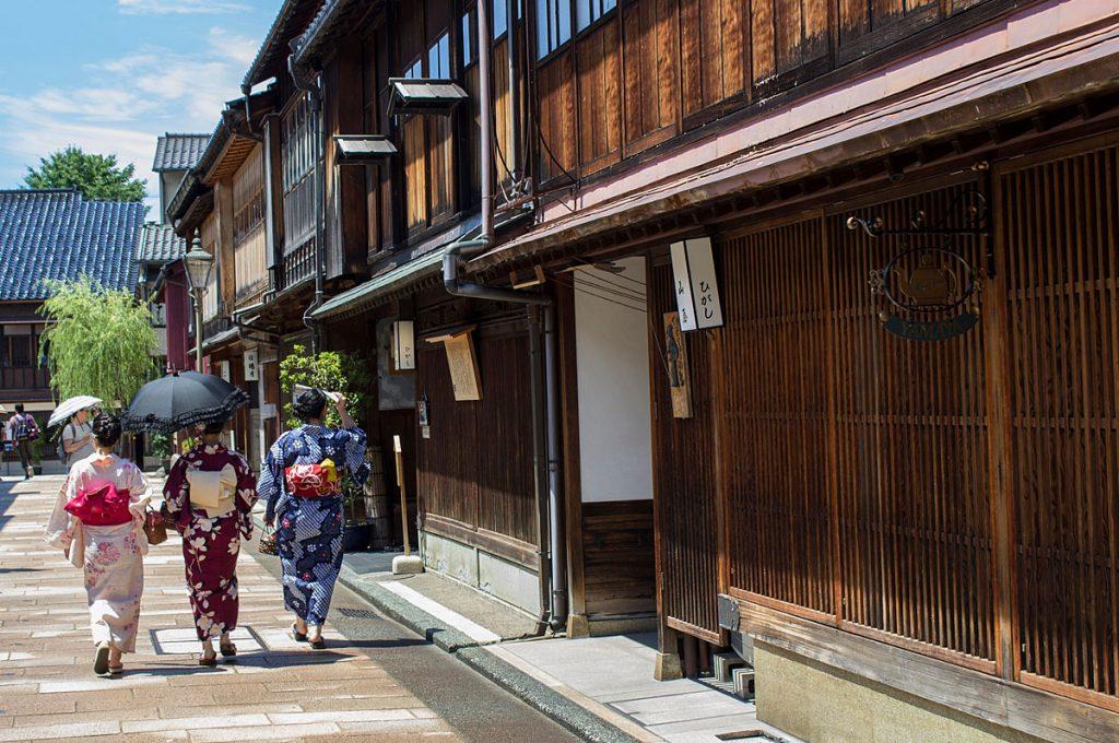 Kanazawa Japan Nishi Chaya District