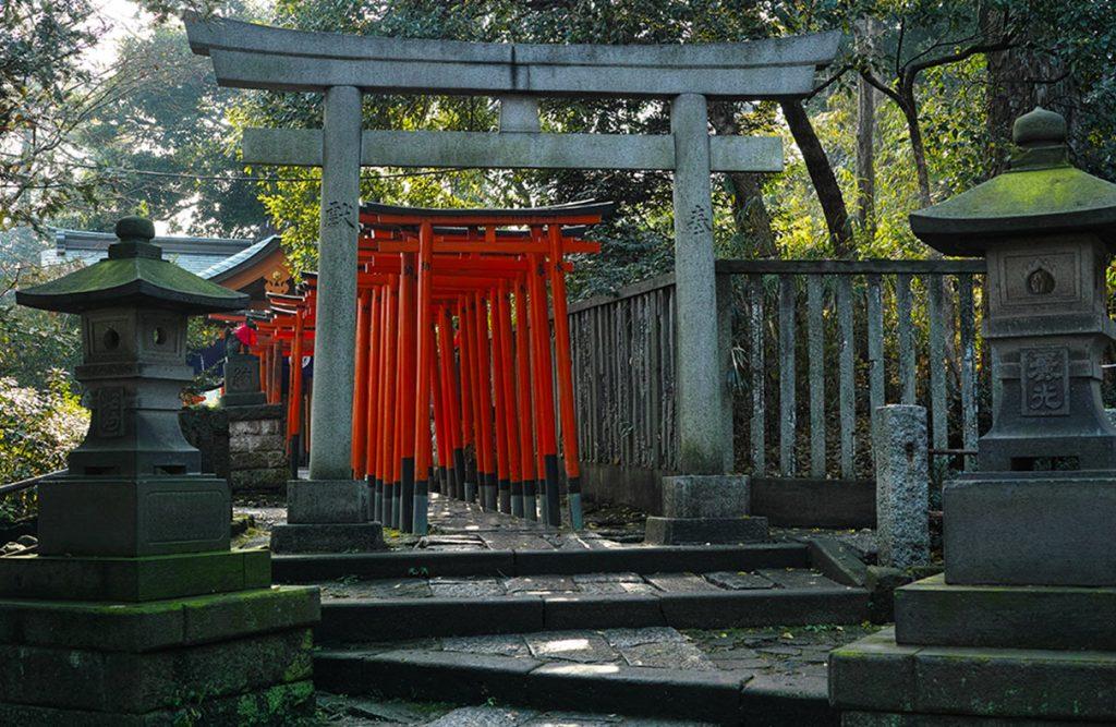 Yanesen Tokyo Nezu Shrine Torii