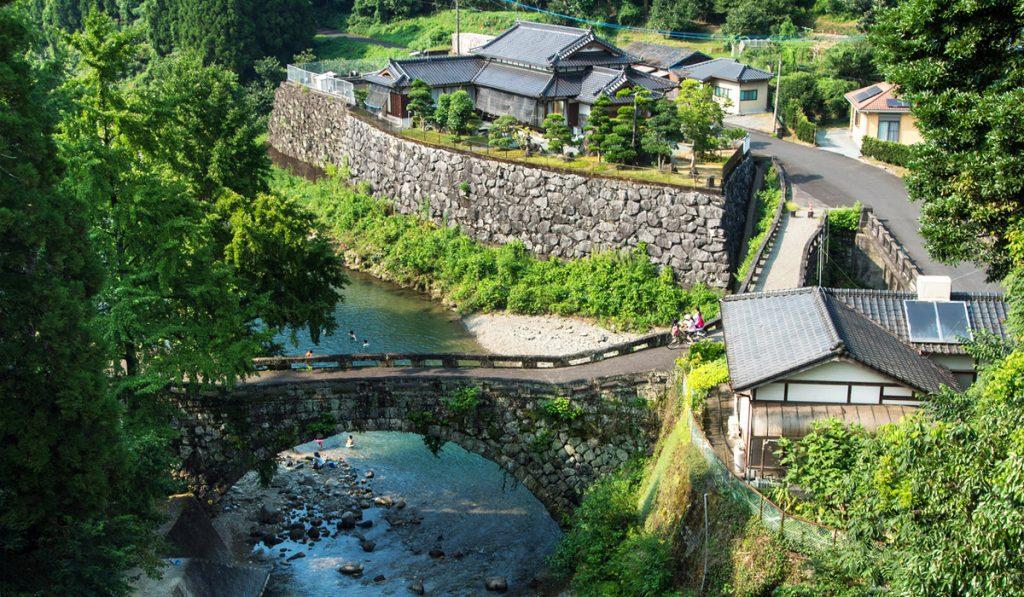 kumamoto japan Futamata Bridge