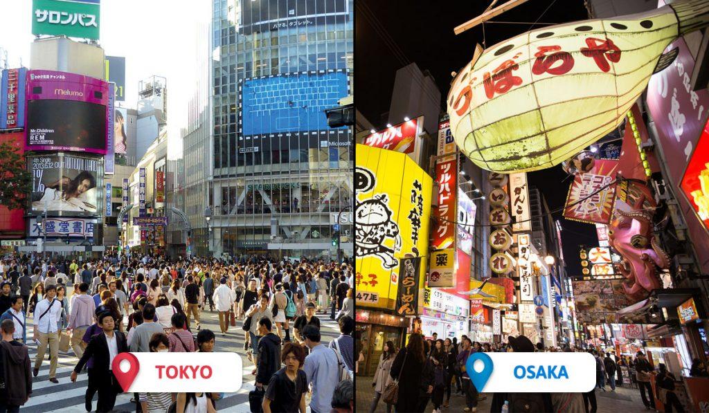 Tokyo vs Osaka Atmosphere