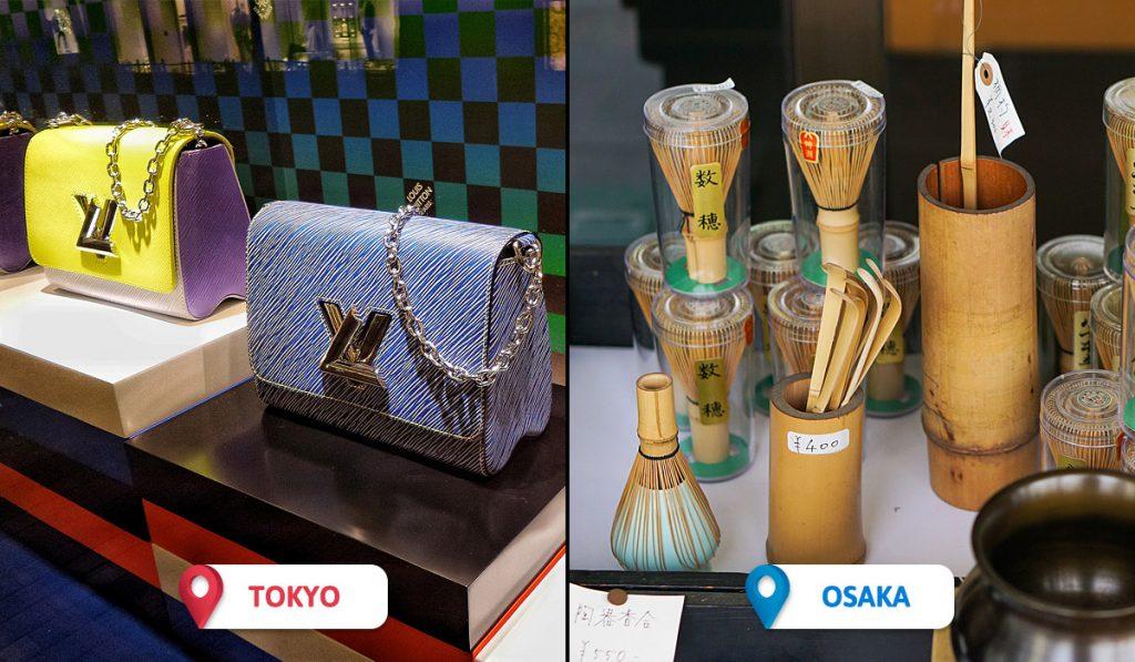 Tokyo vs Osaka Budgeting and Shopping