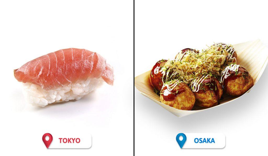 Tokyo vs Osaka Food