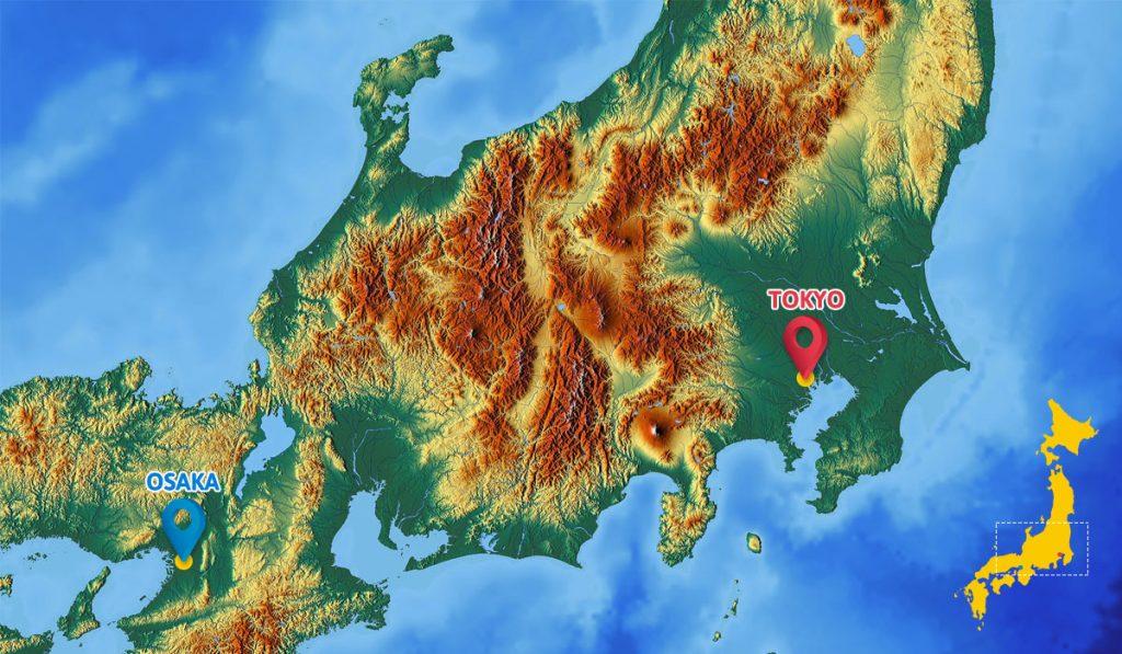 Tokyo vs Osaka Location