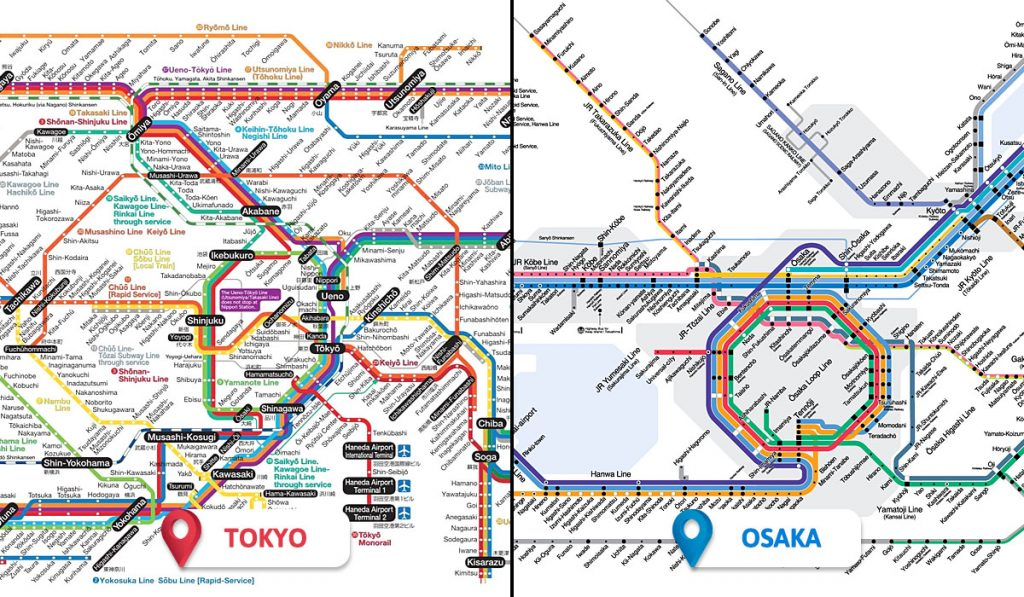 Tokyo vs Osaka Transportation