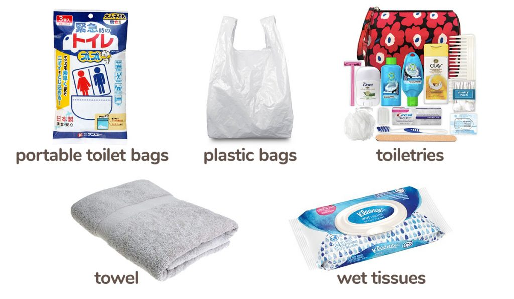 What to pack in your earthquake emergency bag items 2
