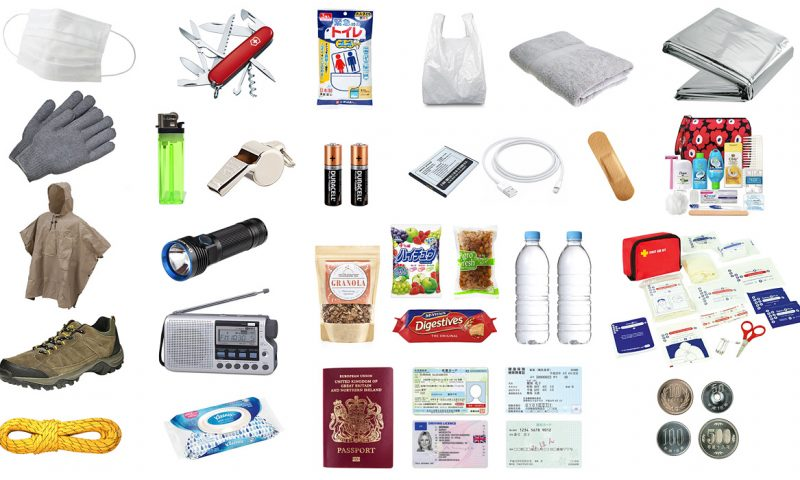 What to pack in your earthquake emergency bag items all