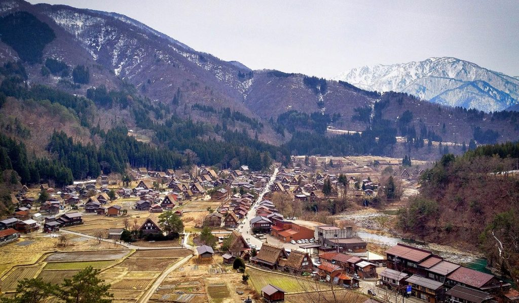 Shirakawa-go Mountain