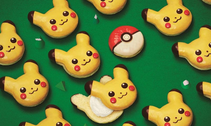 Christmas limited edition Japan Mister Donut Pikachu