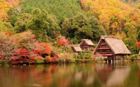Autumn in Japan Traditional house