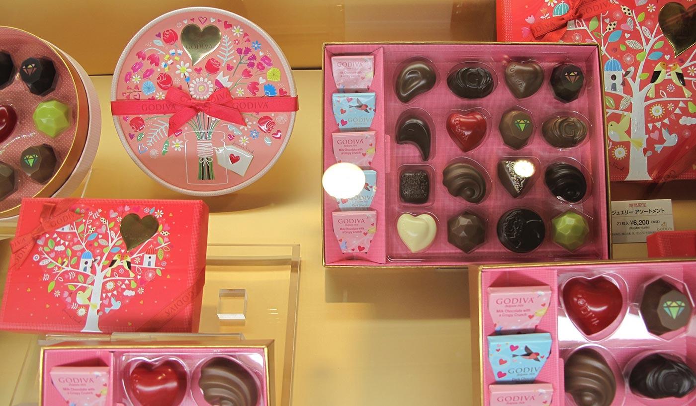 Valentine's day Japan Godiva
