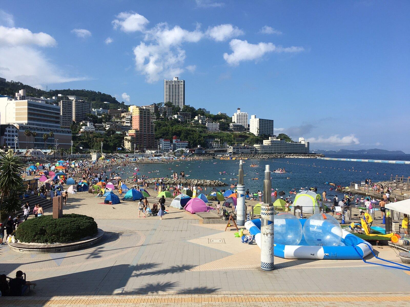 best beaches near tokyo - atami sun beach