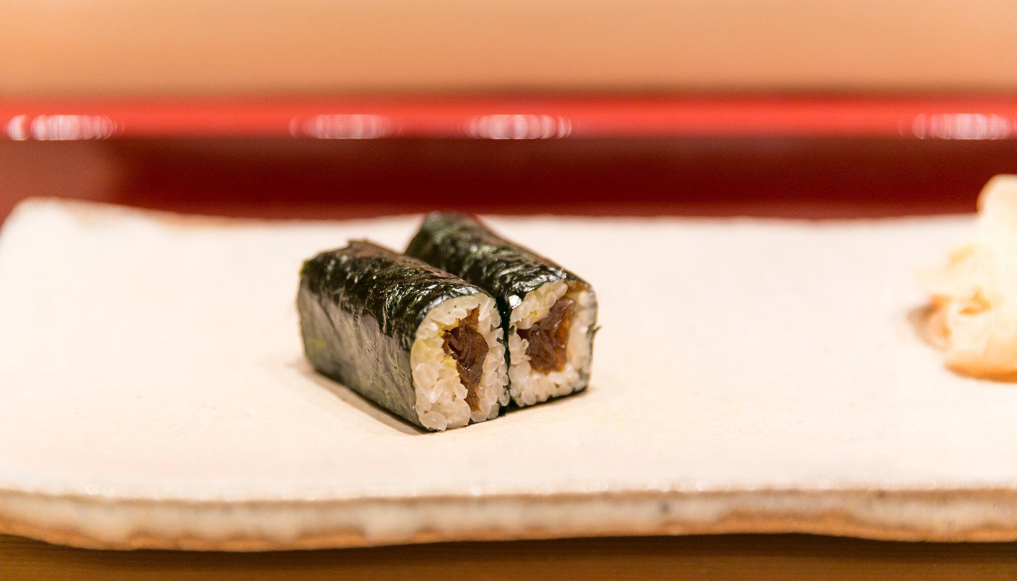3. Dried Gourd Sushi Roll (Kanpyo Maki)