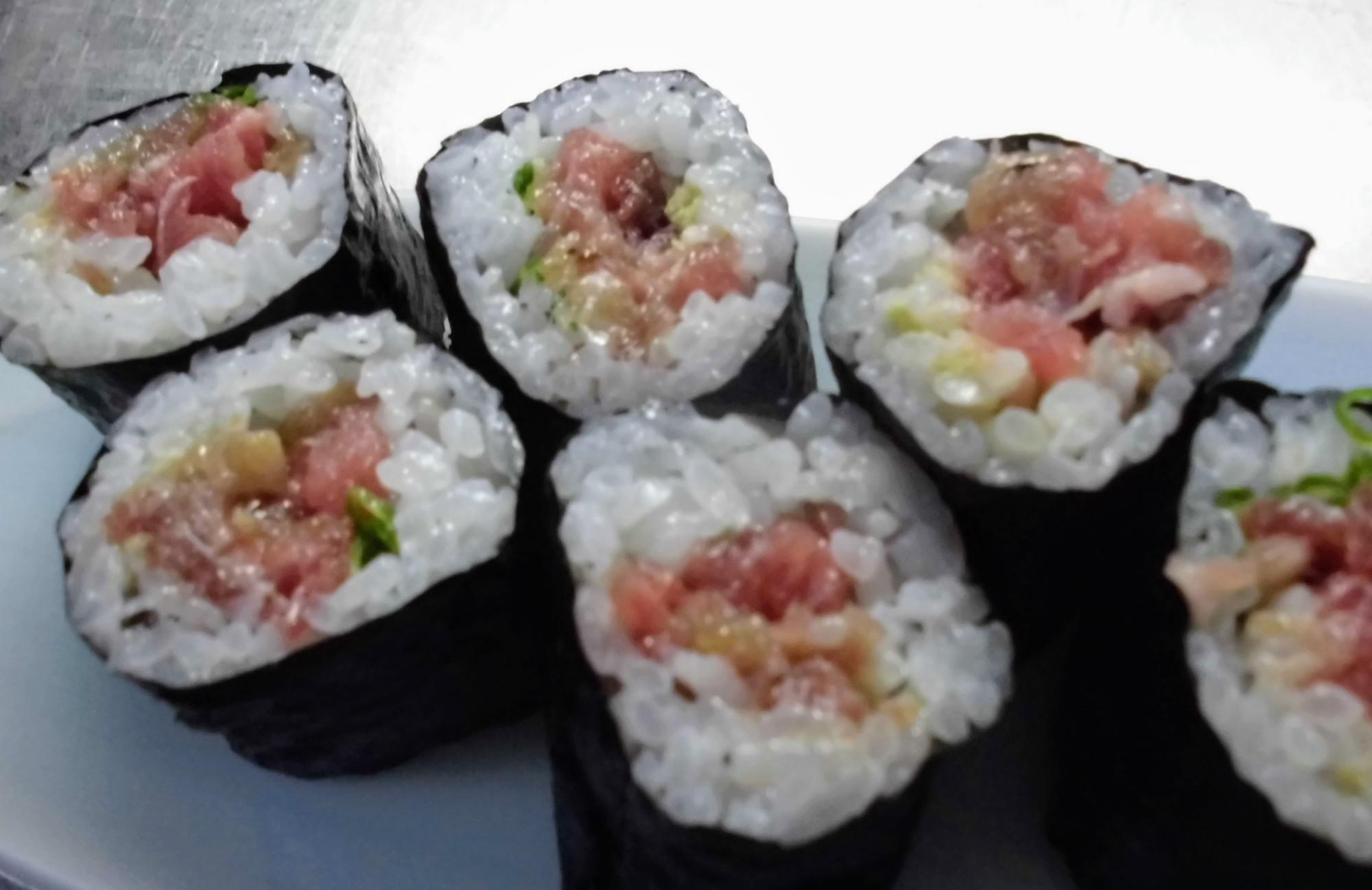 5. Tuna And Scallion Sushi Roll (Negitoro Maki)