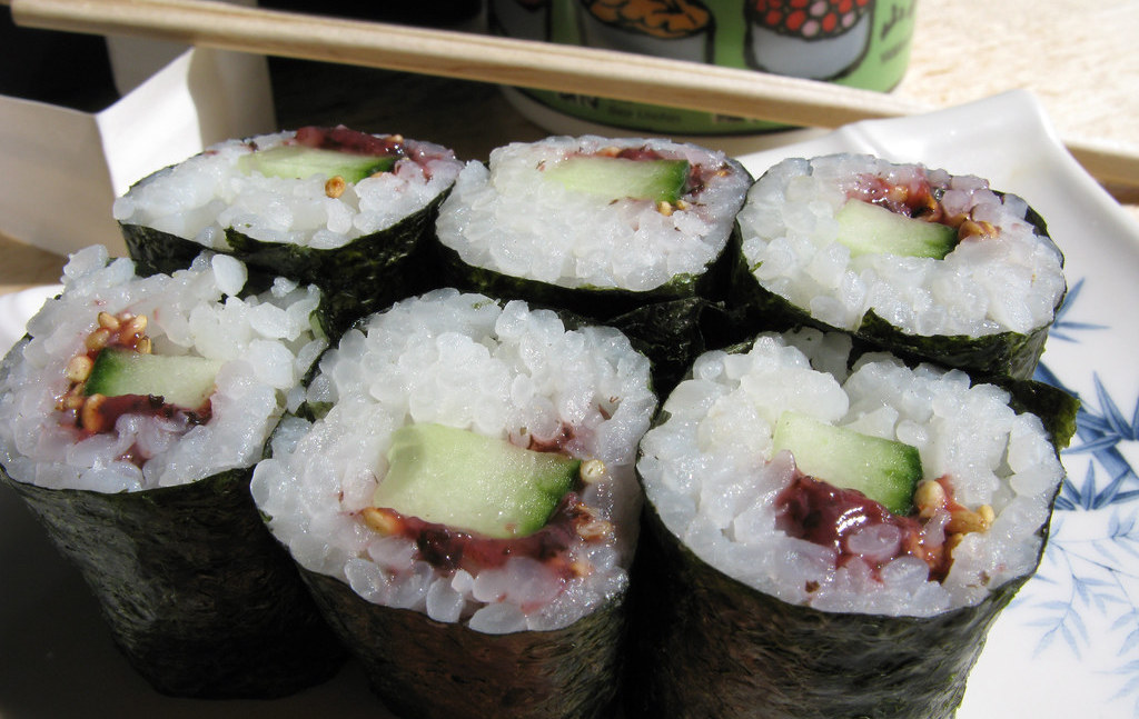 7. Pickled Plum And Cucumber Roll (Umekyu)
