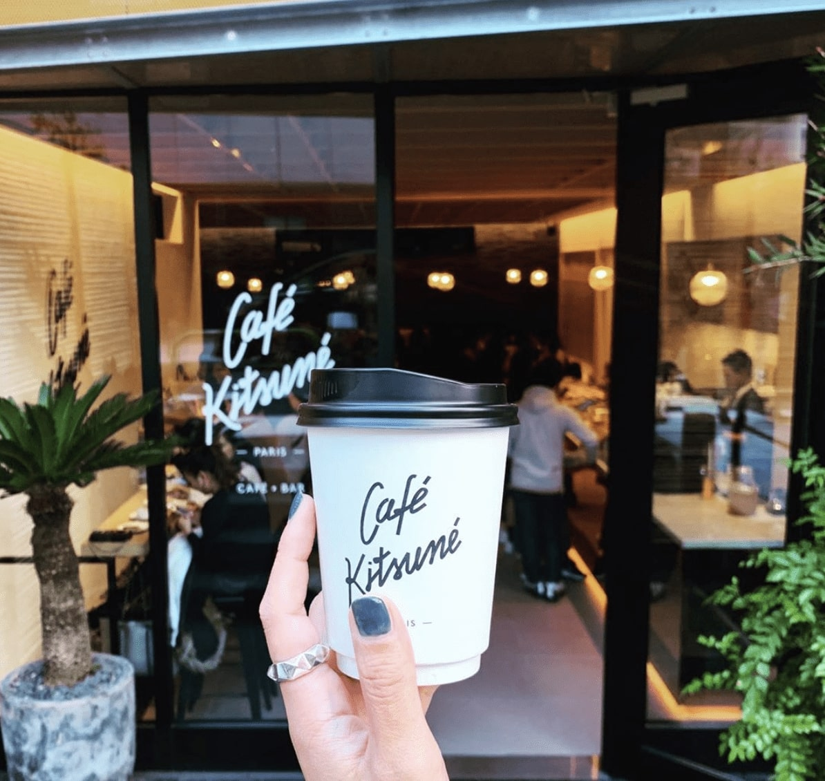 best coffee shop tokyo - Kitsune Cafe