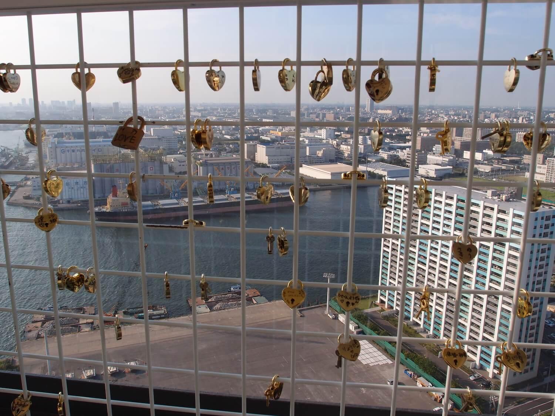 Love locks port tower