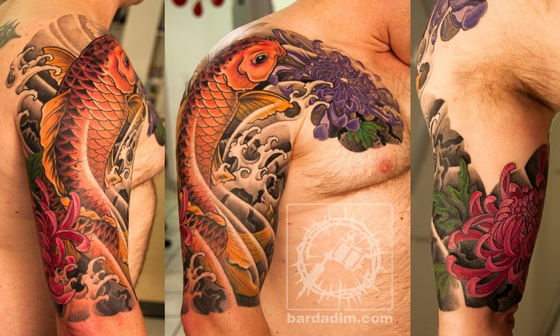tattoos japan koi fish