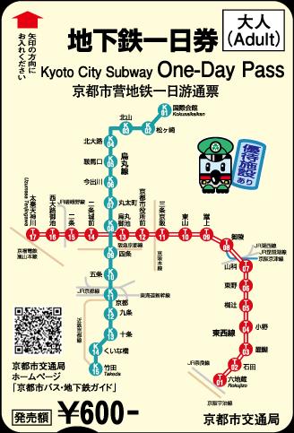 Kyoto One-Day Subway Pass