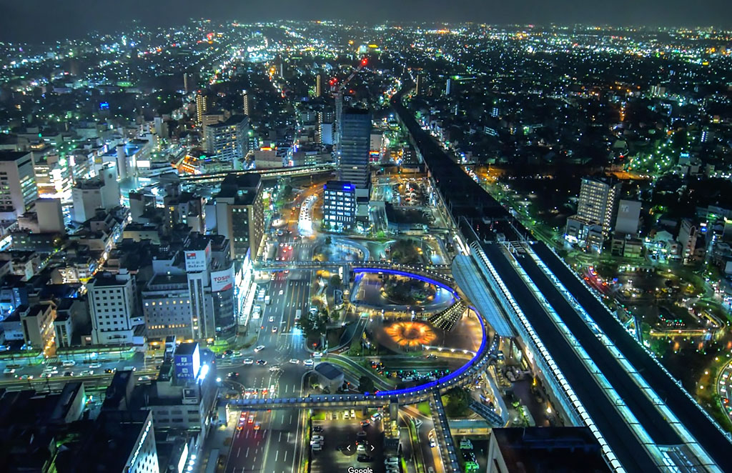 View from Gifu City Tower 43 Observation Room.