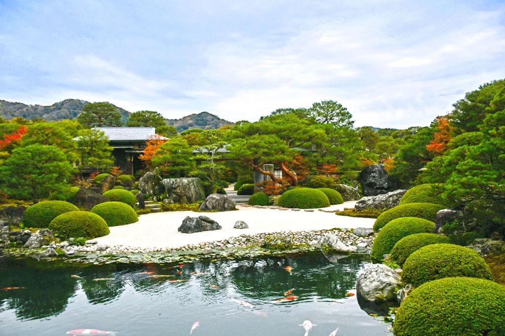 Main Garden of Adachi Museum of Art During Autumn