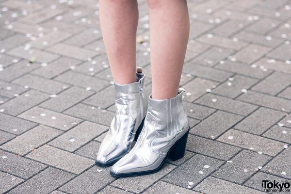 silver metallics fashion japan