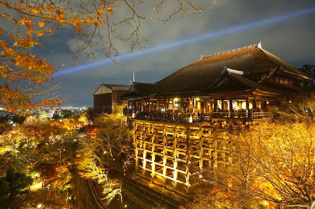 Kiyomizu Terrace at Night