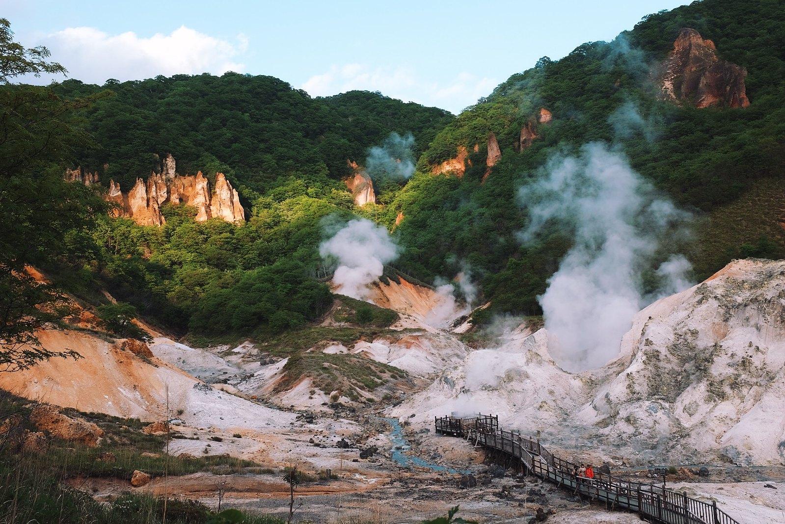 Jigokudani (Hell Valley) - Noboribetsu Onsen